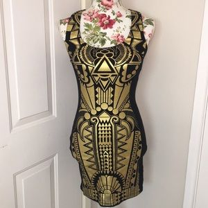 Metallic Painted Dress